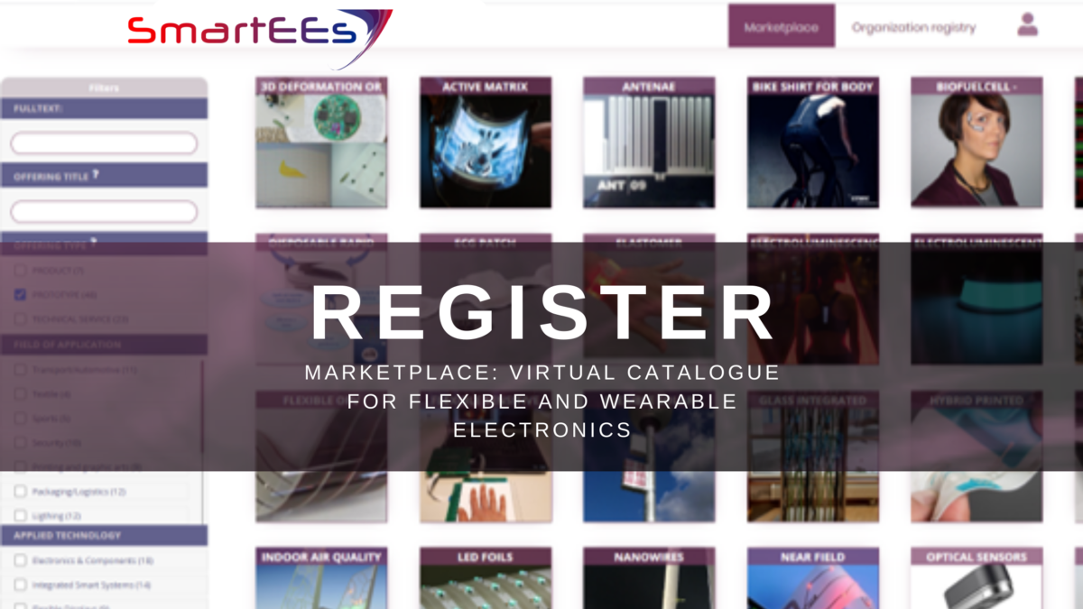Marketplace: Virtual Catalogue for Flexible and Wearable Electronics is Live!